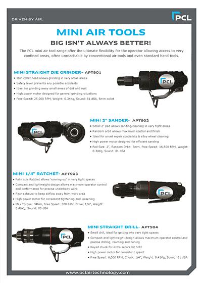 PCL Mini Air Tools Leaflet