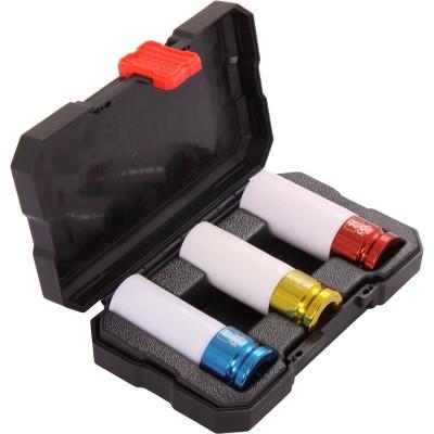"""PCL APA12 3件1/2""""驱动式合金轮毂气动套筒组套"""
